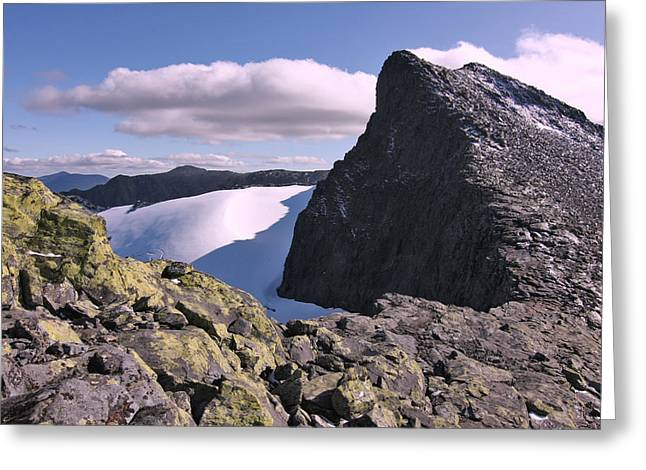 Mountain Summit Ridge Greeting Card