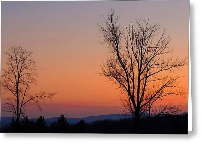 Mountain Sunset 1 Greeting Card