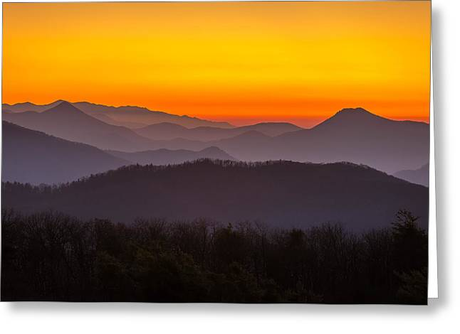 Mountain Sunset In Tennessee Greeting Card