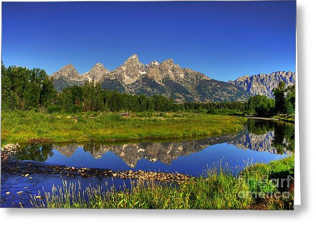 Mountain Time Greeting Card by Mel Steinhauer