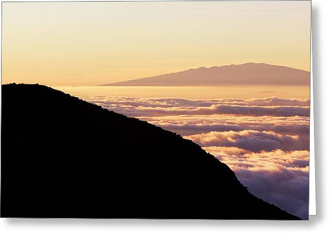 Mountain Top Above The Clouds Greeting Card by Design Pics Vibe