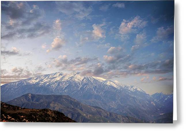 Mountain Top Greeting Card by Athala Carole Bruckner