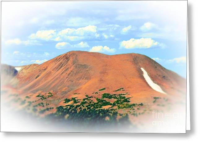Mountain Top High Greeting Card by Kathleen Struckle