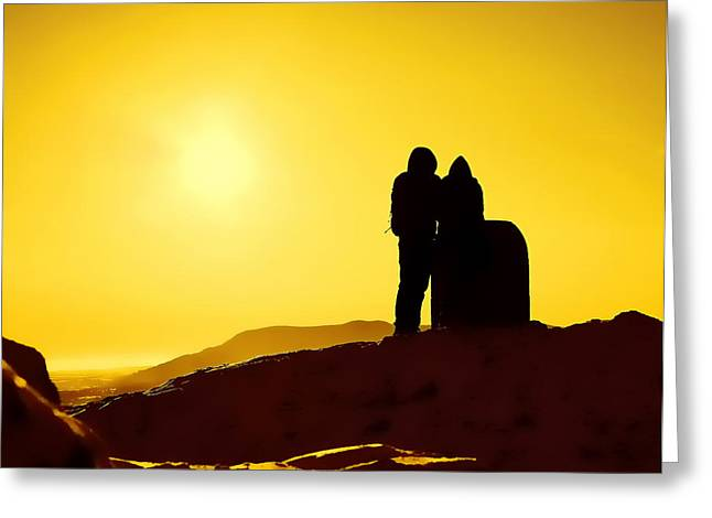 Greeting Card featuring the photograph Mountain Top Sunset by Craig B