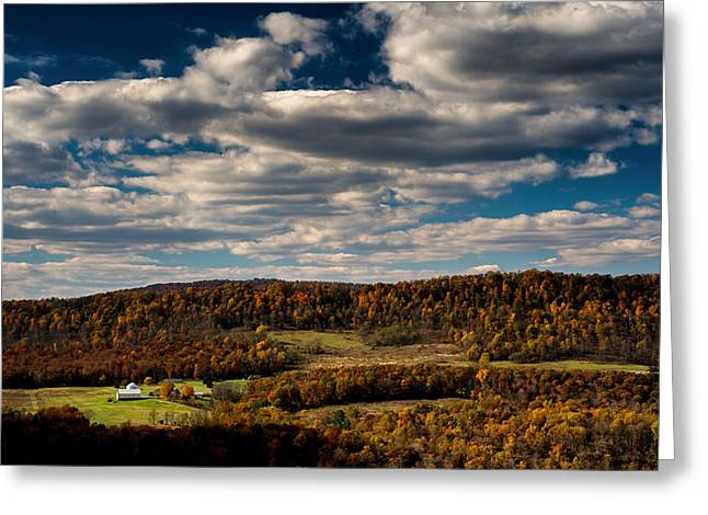 Mountain View In Fall Greeting Card