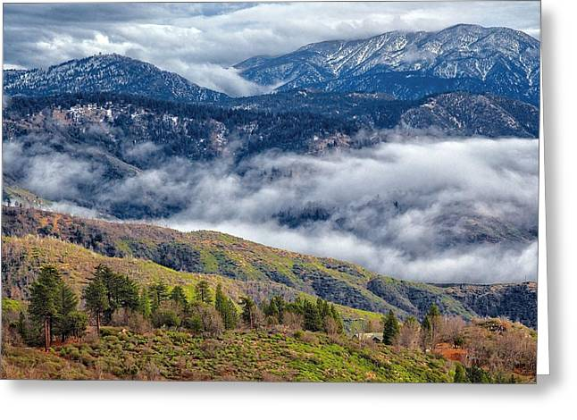 Mountain View Greeting Card by Joe Urbz