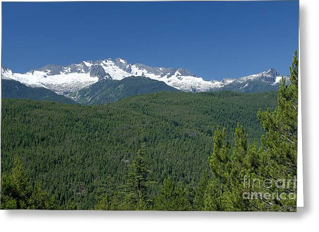 Mountain View Along The Sea To Sky Highway Greeting Card