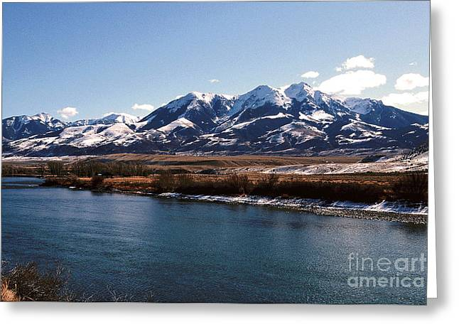 Mountain View Greeting Card by Sharon Elliott