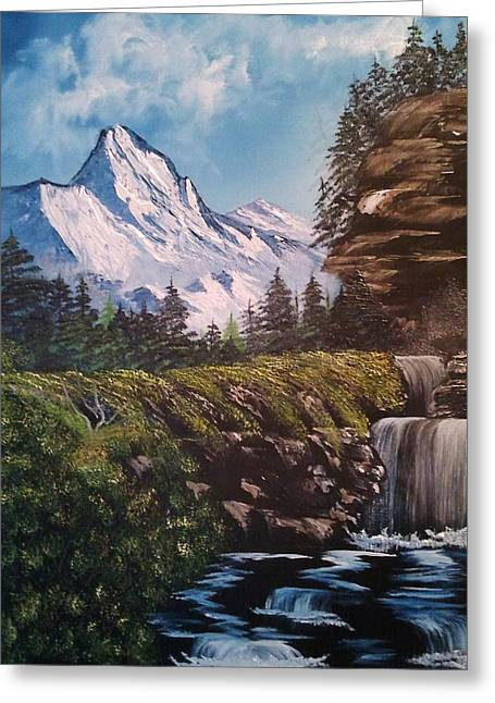 Mountain Views Greeting Card by Lee Bowman