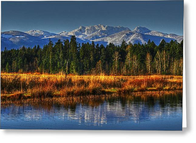 Mountain Vista Greeting Card by Randy Hall