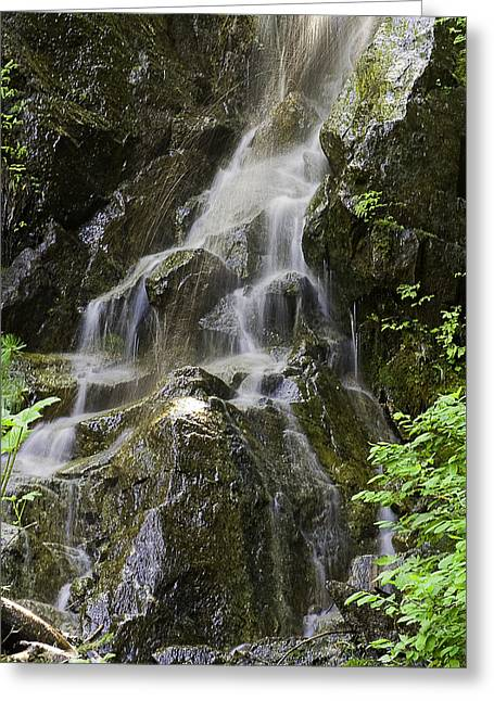 Mountain Waterfall Greeting Card by Gary Neiss