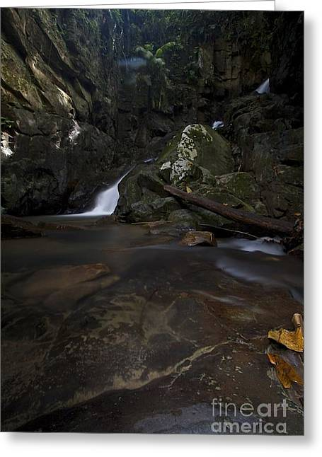 Greeting Card featuring the photograph Mountain Waters. by Gary Bridger