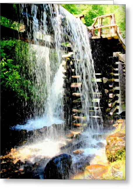 Mountain Waters Greeting Card by Karen Wiles
