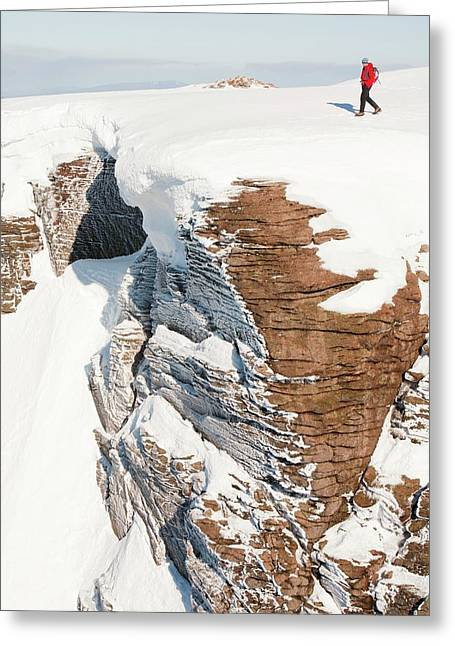 Mountaineer On The Cairngorm Plateau Greeting Card