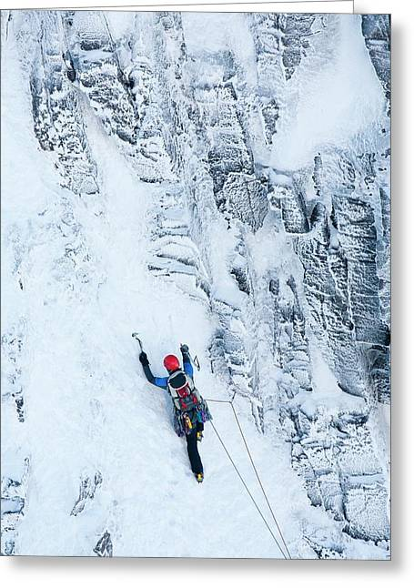 Mountaineer Winter Climbing Greeting Card