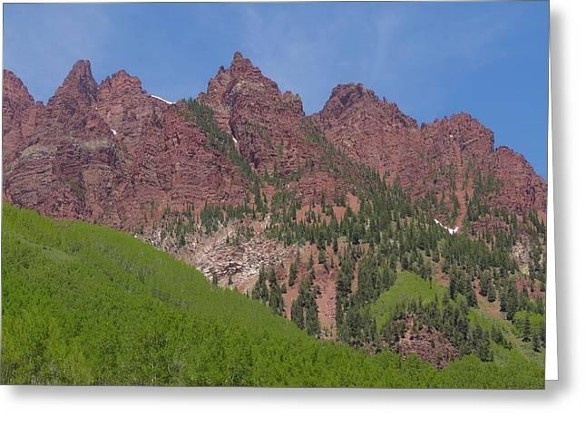 Mountaineering The Elk Range Greeting Card