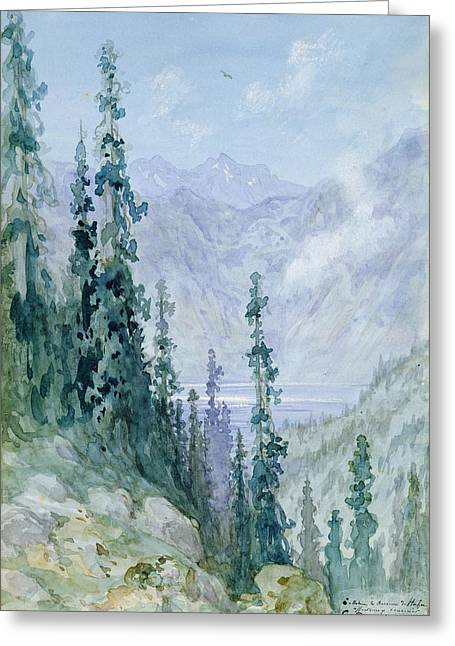 Mountainous Landscape Greeting Card by Gustave Dore