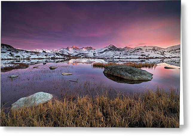 Mountainous Reflections Greeting Card