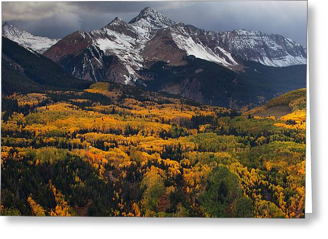 Mountainous Storm Greeting Card by Darren  White