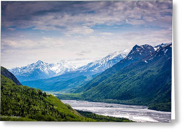 Mountains Along Seward Highway Greeting Card