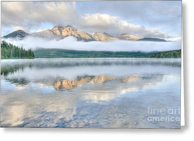 Mountains And Fog Greeting Card by Wanda Krack