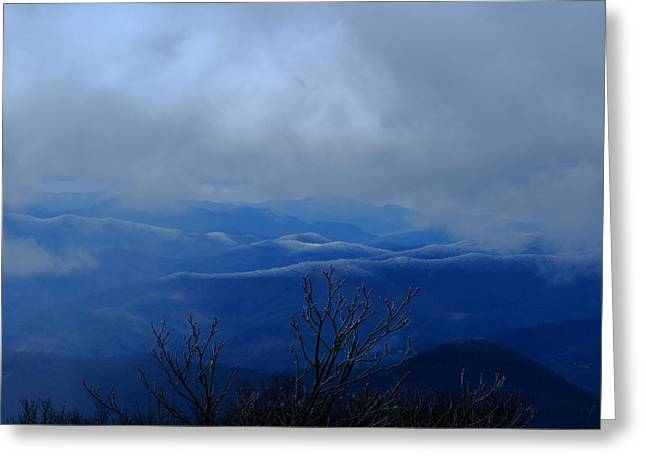 Mountains And Ice Greeting Card