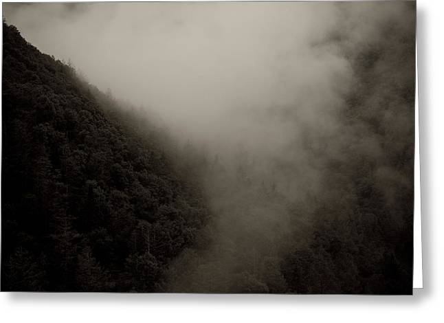 Mountains And Mist Greeting Card by Shane Holsclaw