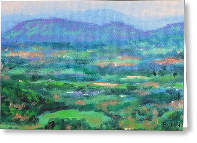 Mountains And Valleys- Summertime Along The Blue Ridge Parkway Greeting Card