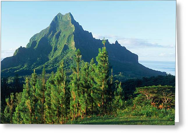 Mountains At A Coast, Belvedere Point Greeting Card