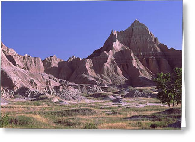 Mountains At Badlands National Park Greeting Card by Panoramic Images
