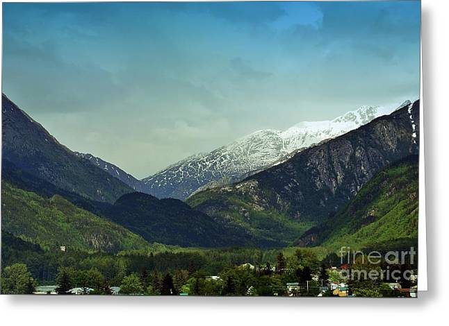 Mountains Beyond Skagway Greeting Card
