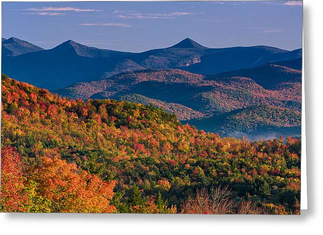 Mountains In Color Greeting Card by Jeff Sinon