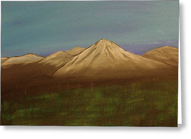 Mountains In The Mists Greeting Card by Keith Nichols