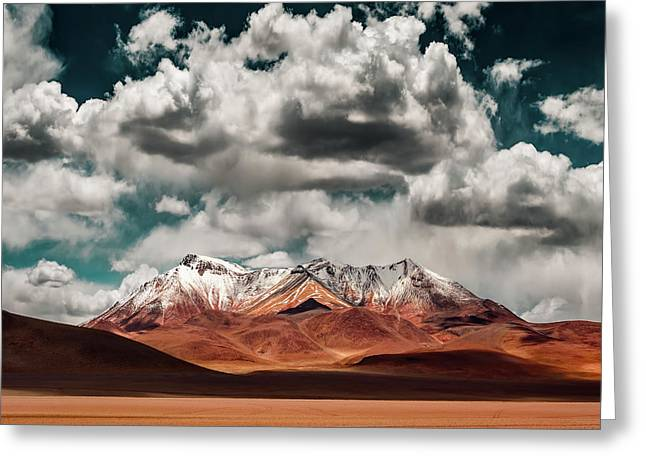 Mountains In The Salvador Dali Desert - Bolivia Greeting Card
