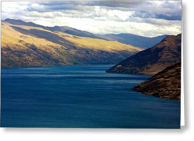 Greeting Card featuring the photograph Mountains Meet Lake #2 by Stuart Litoff