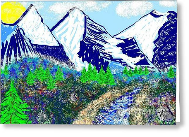 Mountains Msp Greeting Card by Dave Atkins