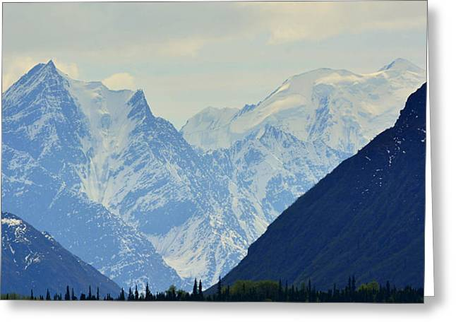 Mountains Near Matanuska Glacier Greeting Card