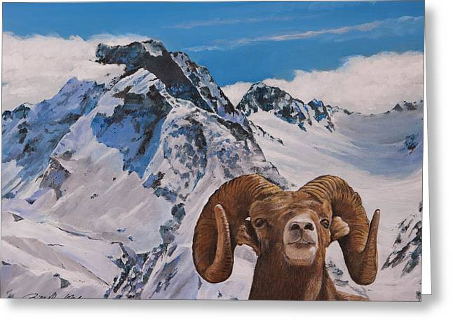 Mountains Of Alaska Greeting Card by Bill Dunkley