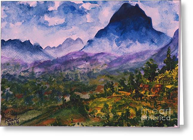 Mountains Of Pyrenees  Greeting Card