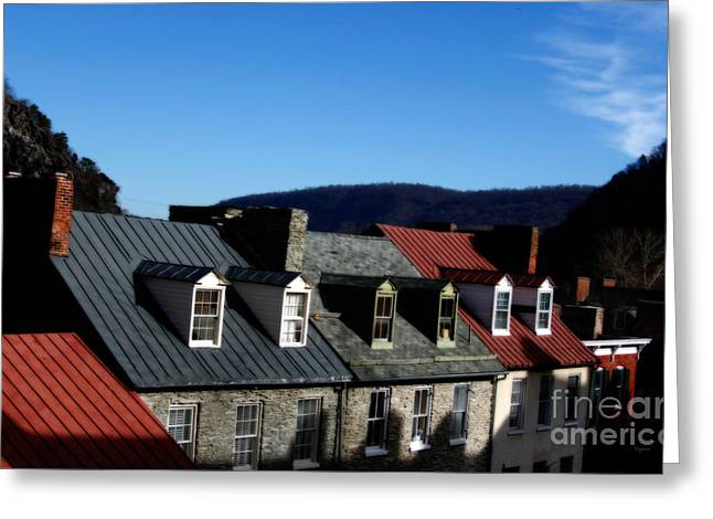 Mountains Of Rooftops  Greeting Card by Steven Digman