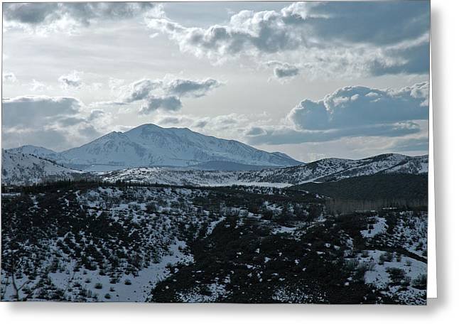Mountains Of Wild Cat Ranch Greeting Card