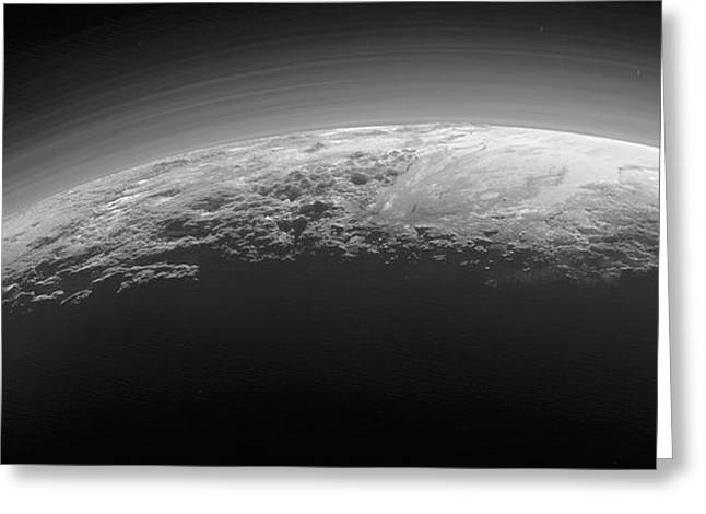 Mountains On Pluto Greeting Card by Nasa