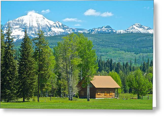 Mountains On West Side Of Glacier Np-mt Greeting Card