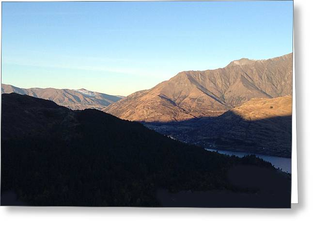 Mountains Greeting Card by Ron Torborg