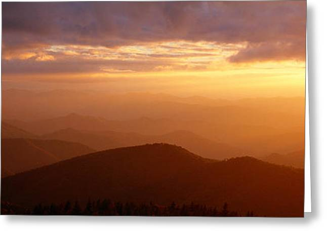 Mountains, Sunset, Blue Ridge Parkway Greeting Card by Panoramic Images