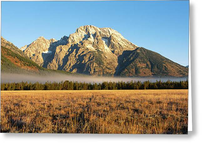Mountains Surrounded With Fog, Mt Greeting Card