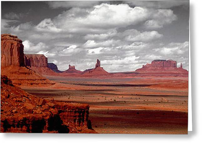 Mountains, West Coast, Monument Valley Greeting Card by Panoramic Images