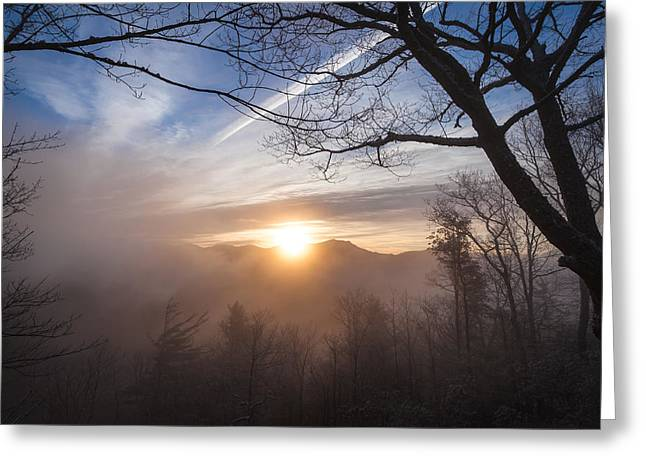 Mountaintop Sunrise Greeting Card