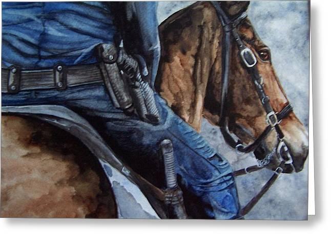 Mounted Patrol Greeting Card