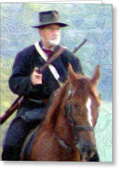 Mounted Union Soldier - Perryville Ky Greeting Card